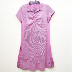 Prana Activewear Purple Striped Polo Dress